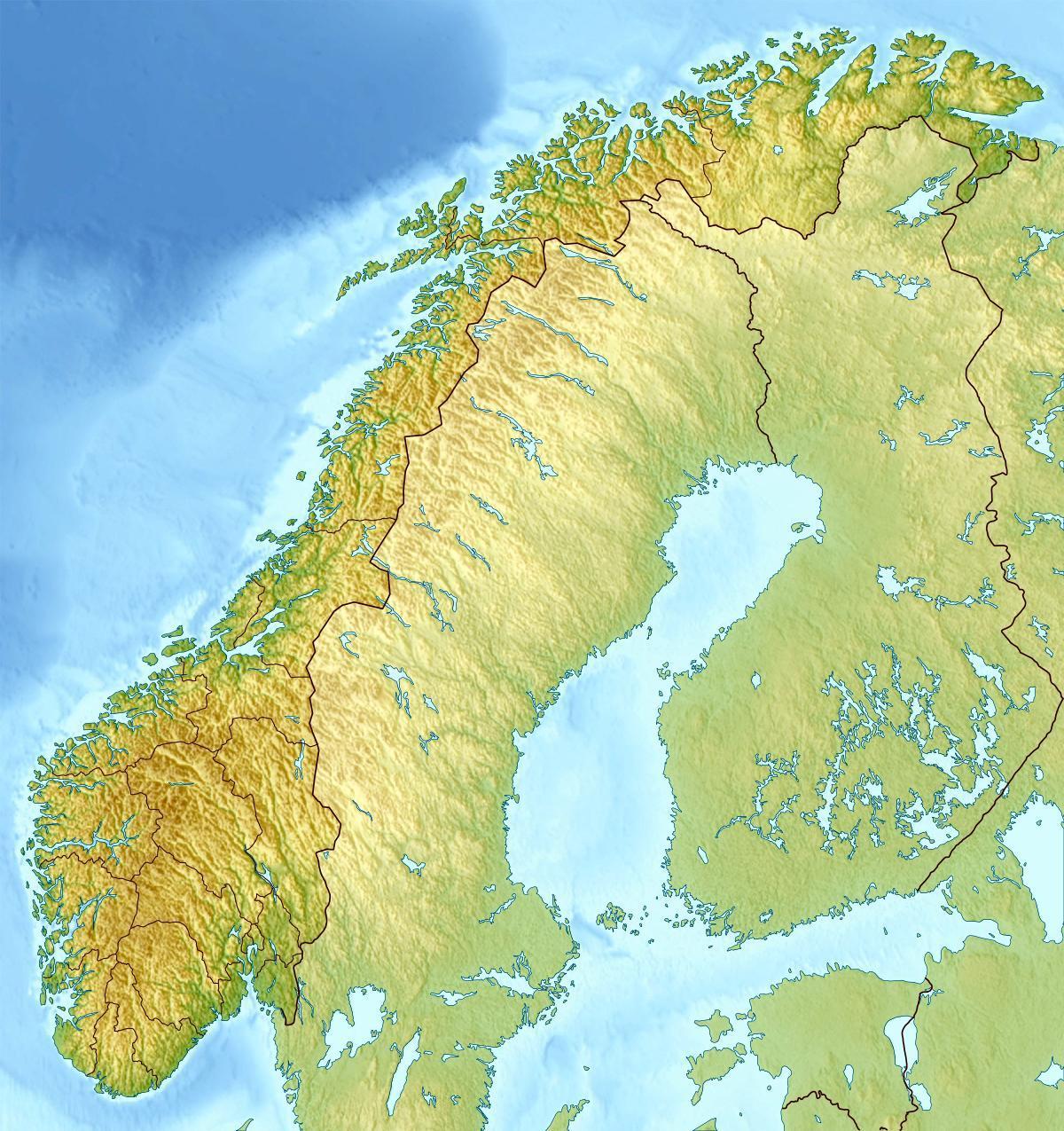 Cartina Fisica Della Norvegia.Mappa Fisica Di Norvegia Mappa Di Fisica Norvegia Europa Del Nord Europa