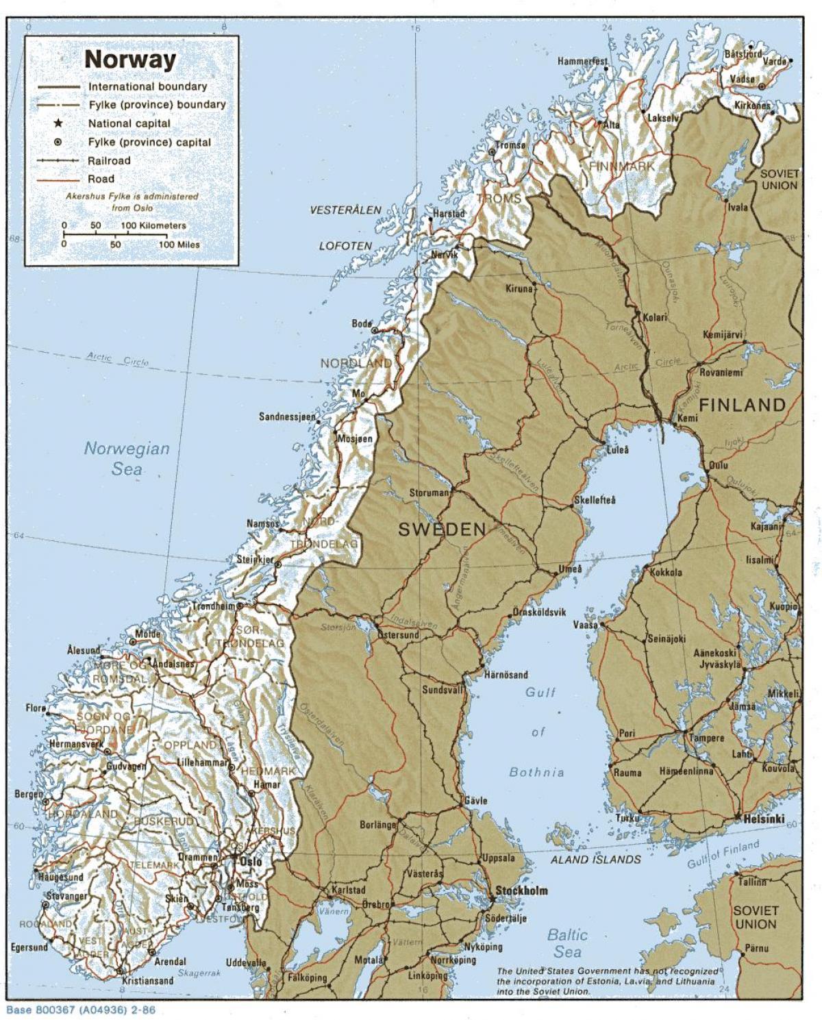 La Norvegia Cartina.Norvegia Geografia Cartina Mappa Geografica Della Norvegia Europa Del Nord Europa